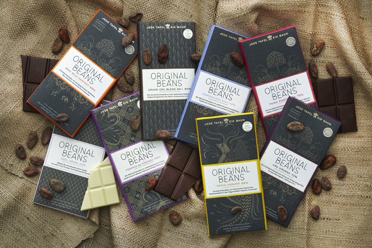 Schokolade die man mit gutem Gewissen naschen kann.